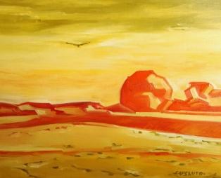Domingo (100 x 81 cm) Oleo sobre tela