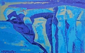 Blue (60 x 40 cm) Oleo sobre tela
