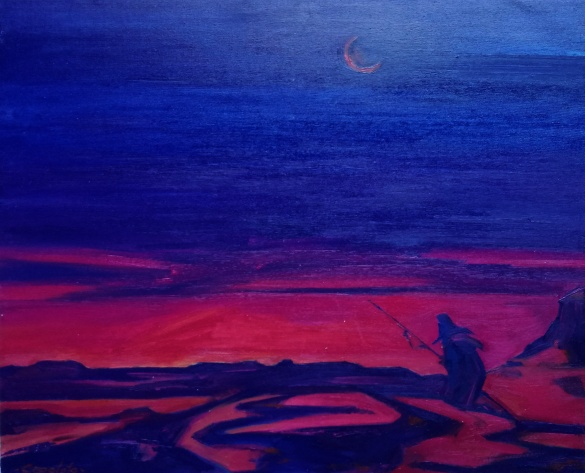 Caronte (100 x 80 cm) Oleo sobre tela