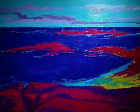 Atlántico (100 x 81 cm) Oleo sobre tela