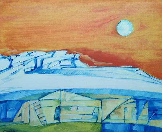 Yesterday (100 x 81 cm) Oleo sobre tela